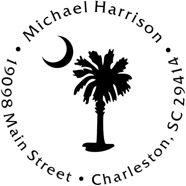 Palmetto Moon Address Stamp