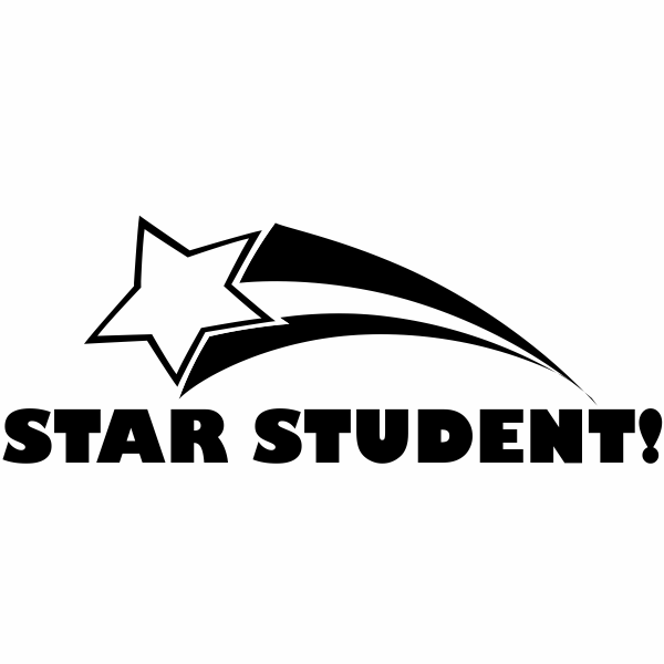 Feedback - Shooting Star Student Rubber Teacher Stamps