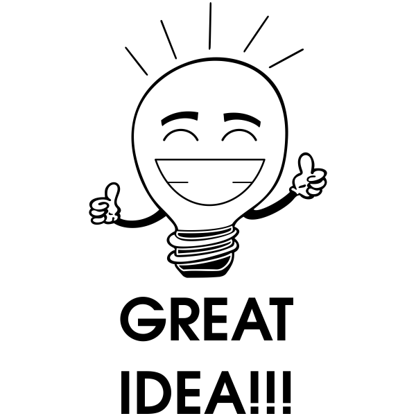 Great Idea Bulb Stamp