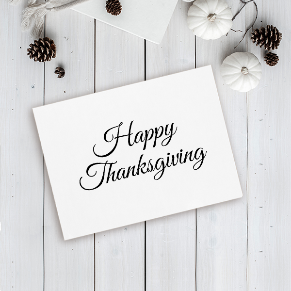 Happy Thanksgiving Craft Stamp Imprint Example