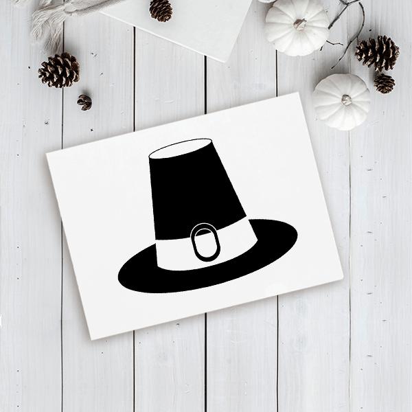 Pilgrim's Hat Craft Stamp Imprint Example