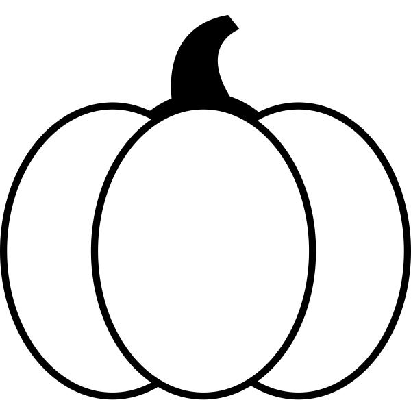 Large Round Pumpkin Craft Stamp