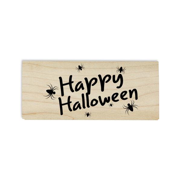 Spiders Happy Halloween Craft Stamp Body and Design