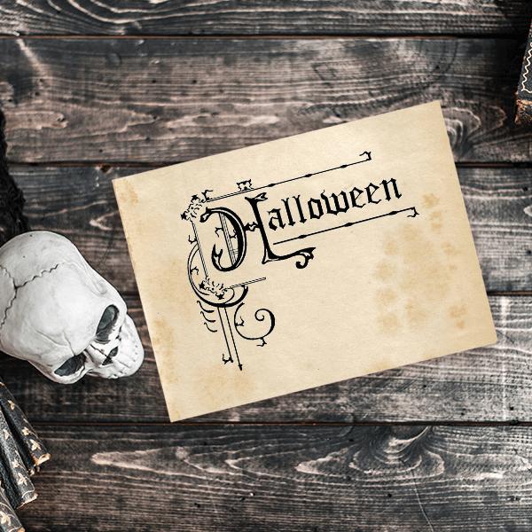Halloween Ornamental Sign Craft Stamp Imprint Example