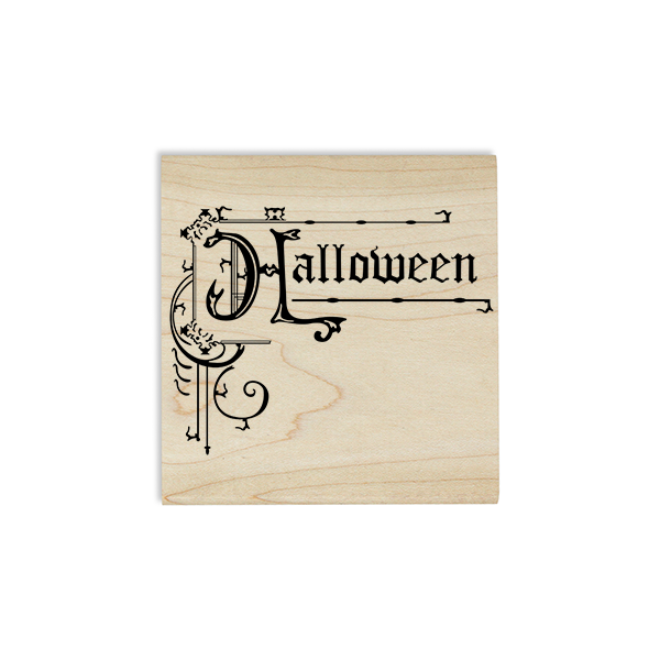 Halloween Ornamental Sign Craft Stamp Body and Design
