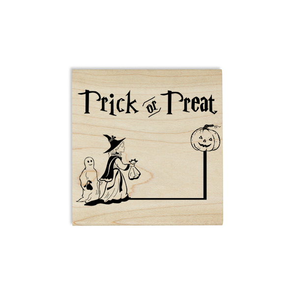 Trick or Treaters Craft Stamp Body and Design