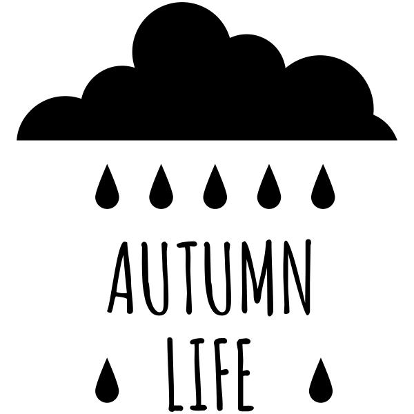 Autumn Life Rain Cloud Craft Stamp