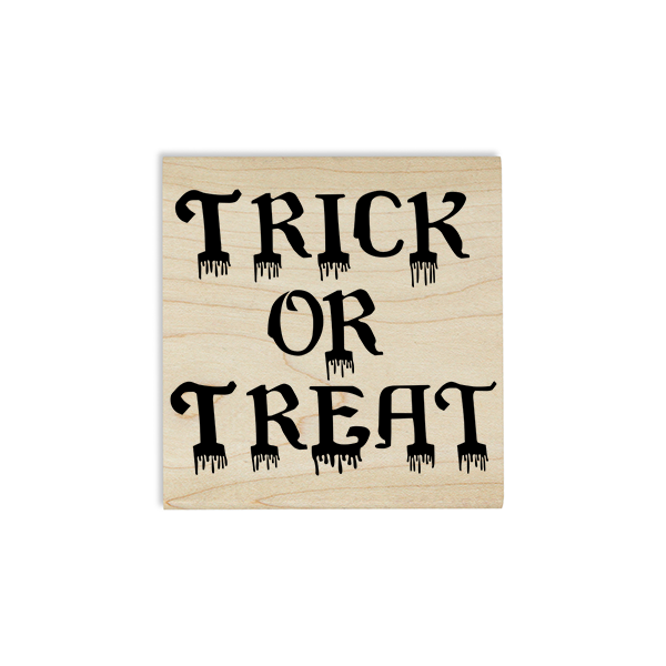 Bloody Trick or Treat Craft Stamp Body and Design