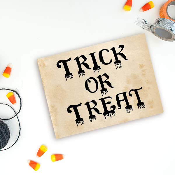Bloody Trick or Treat Craft Stamp Imprint Example