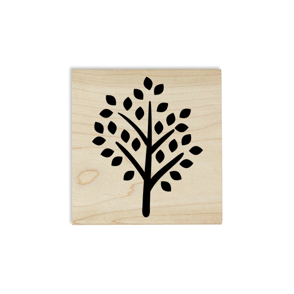 Tree Autumn Leaves Craft Stamp Body and Design