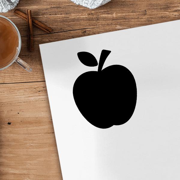 Apple Craft Stamp Imprint Example