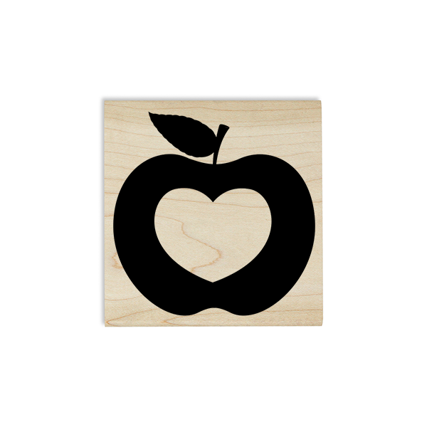 Heart Apple Craft Stamp Body and Design