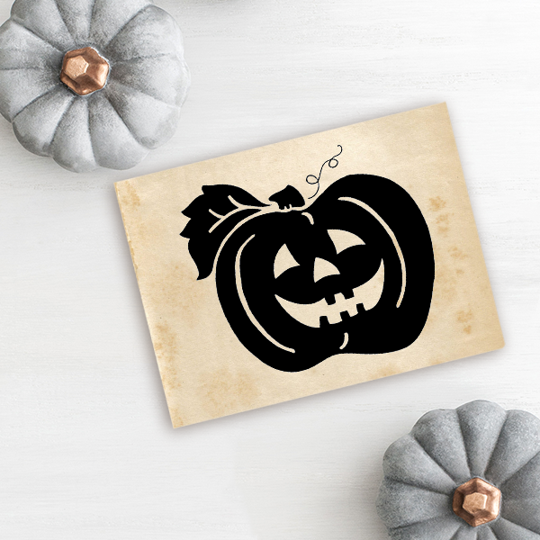 October Jack O' Lantern Craft Stamp Imprint Example