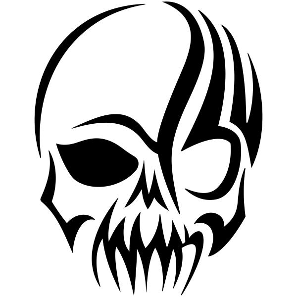 Gothic Skull Craft Stamp