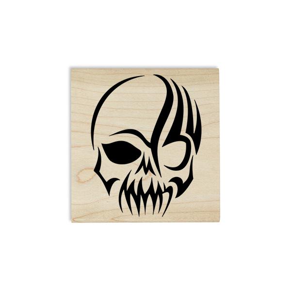 Gothic Skull Craft Stamp Body and Design