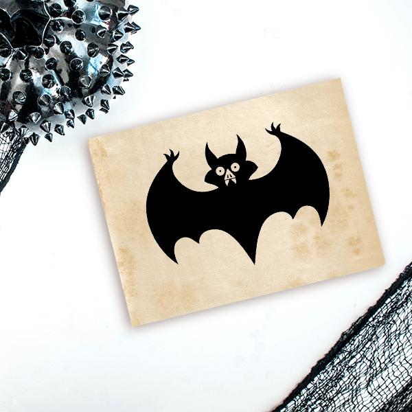 Vampire Bat Craft Stamp Imprint Example