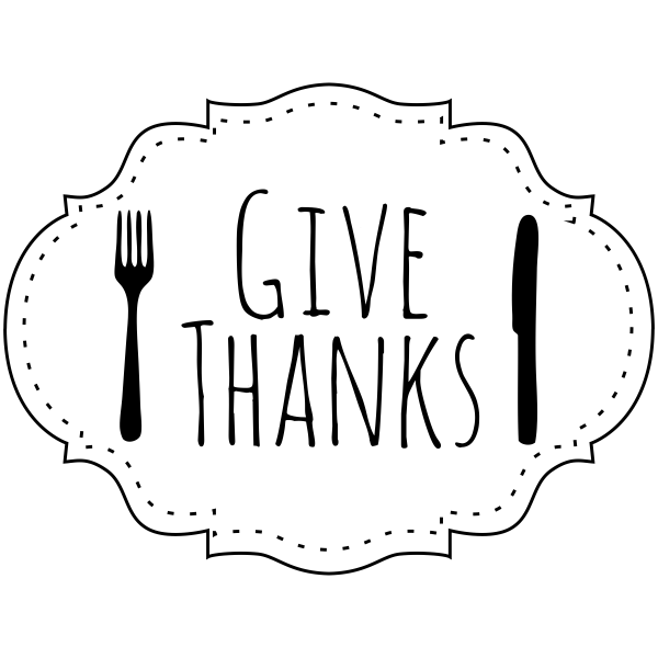 Give Thanks Fork and Knife Craft Stamp