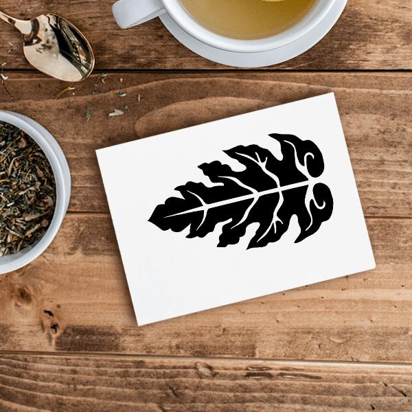 Autumn Leaf Craft Stamp Imprint Example
