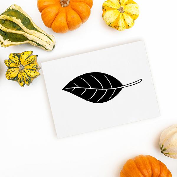 Autumn Oak Leaf Craft Stamp Imprint Example