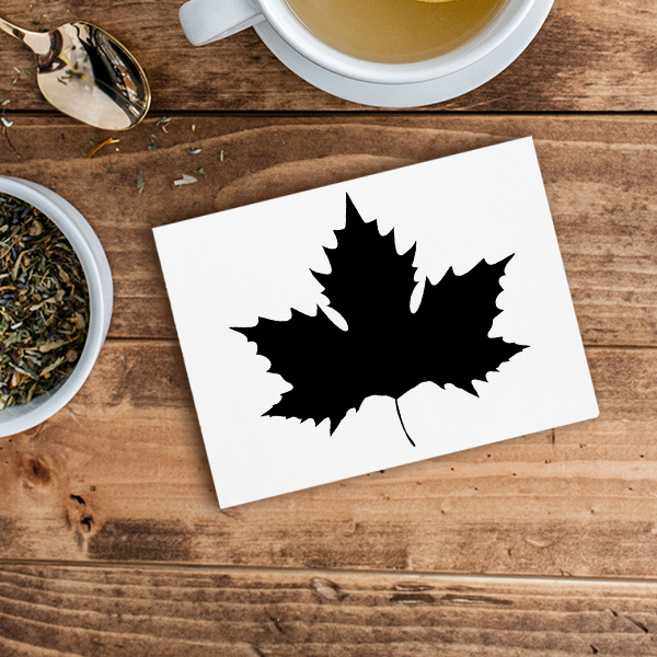 Maple Leaf Craft Stamp Imprint Example