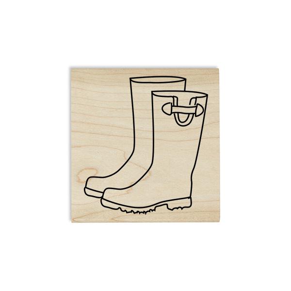 Rain Boots Craft Stamp Body and Design