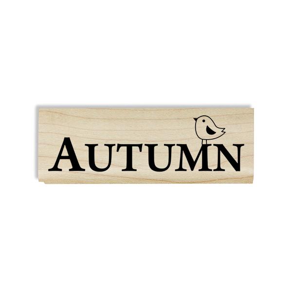 Autumn Birdie Craft Stamp Body and Design