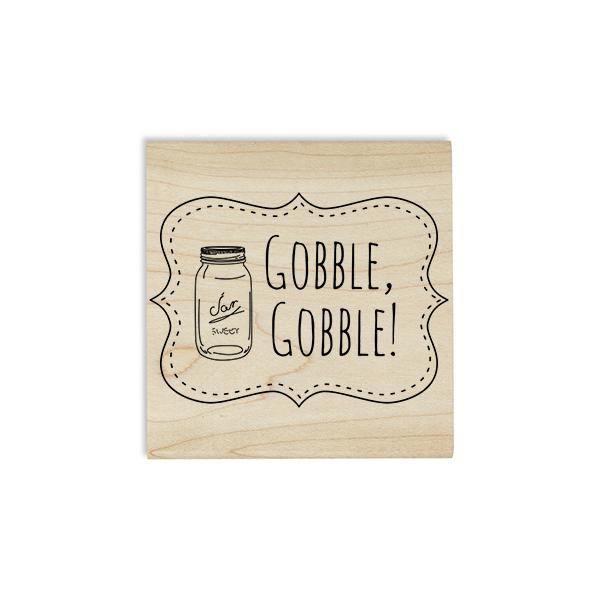Gobble Gobble! Mason Jar Craft Stamp Body and Design