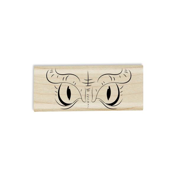 Evil Owl Eyes Craft Stamp Body and Design