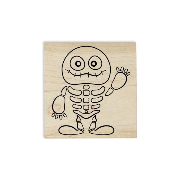 Cute Skeleton Mummy Craft Stamp Body and Design