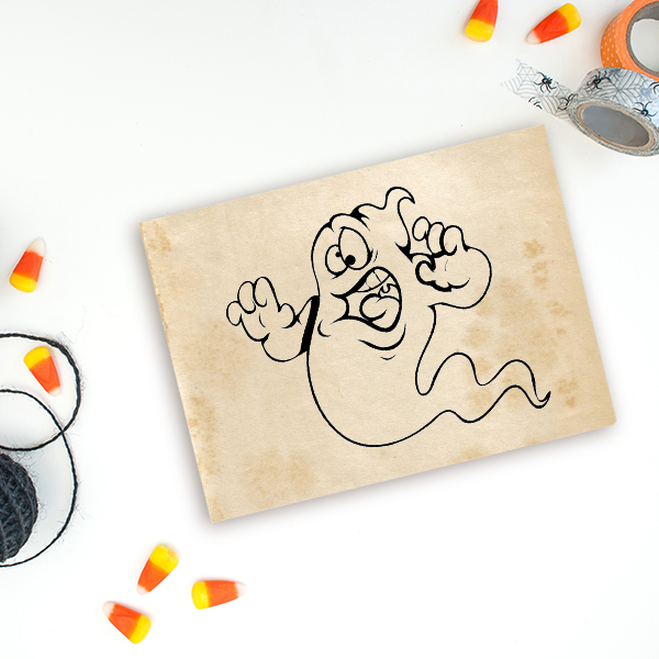 Goofy Ghost Craft Stamp Imprint Example