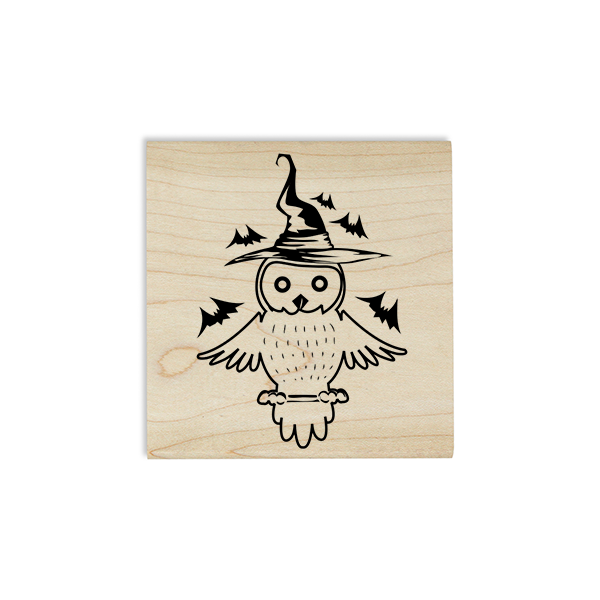 Owl Witch with Bats Craft Stamp Body and Design