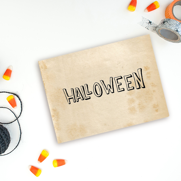 Halloween Hollow Craft Stamp Imprint Example
