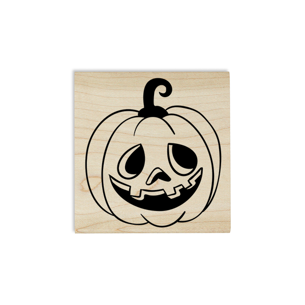 Mr. Goofy Jack O' Lantern Craft Stamp Body and Design