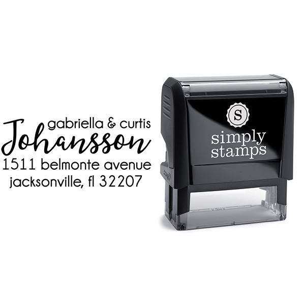 Johansson Script Address Stamp Body and Design