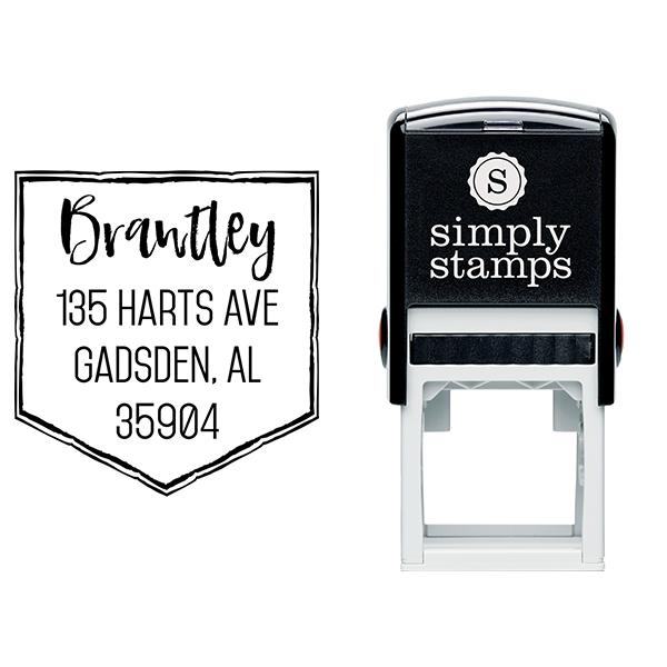 Brantley Banner Address Stamp Body and Design