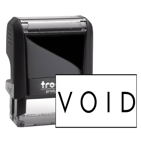 VOID Bold Stock Office Rubber Stamps