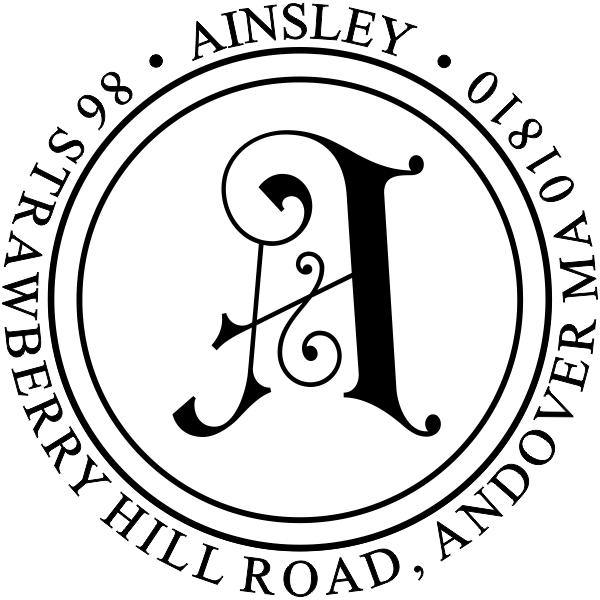 Ainsley Embellished Address Stamp