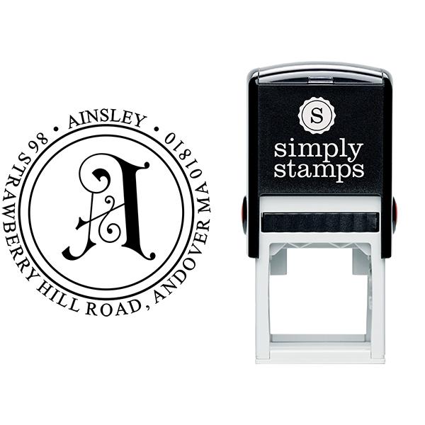 Ainsley Embellished Address Stamp Body and Design