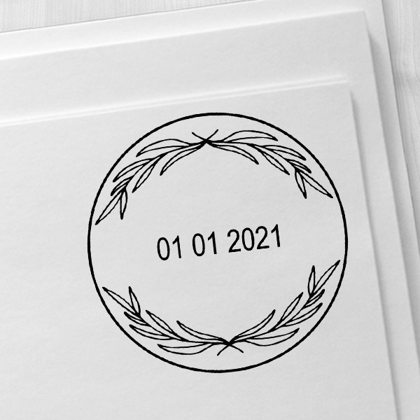 Small Decorative Dater Stamp Imprint Example