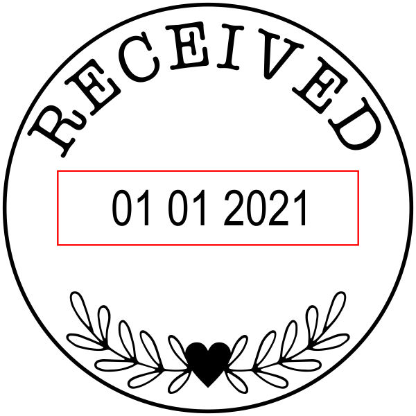 Small Decorative Received Dater Stamp