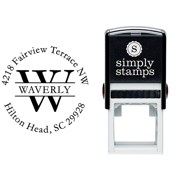 Waverly Return Address Stamp Body and Design