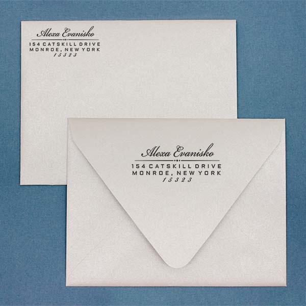 Alexa Return Address Stamp Imprint Example