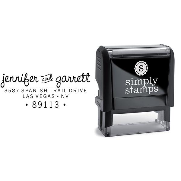 Pinafore Wedding Return Address Stamp Body and Design