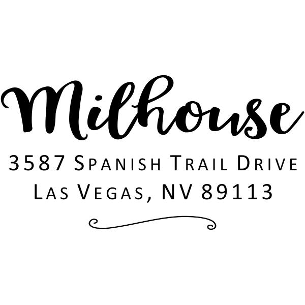 Milhouse Script Return Address Stamp