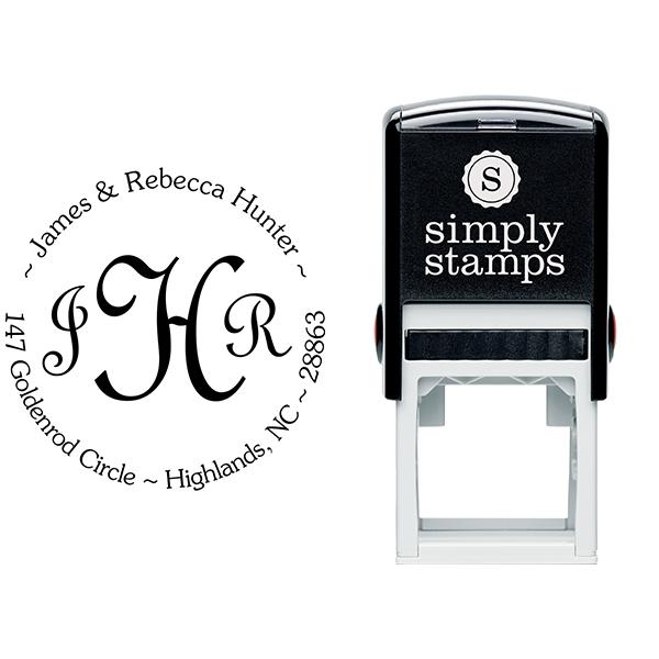 Monogram Address Stamp Stamp Body and Imprint