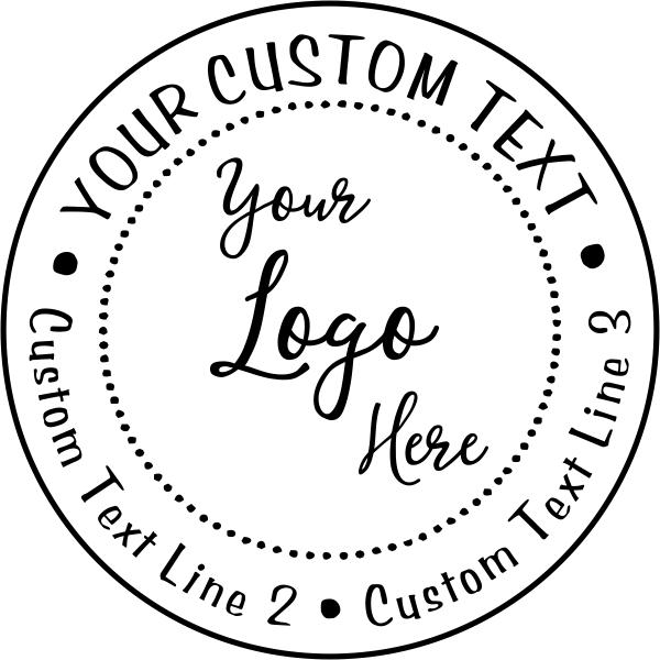 Your Custom Logo Round Stamp
