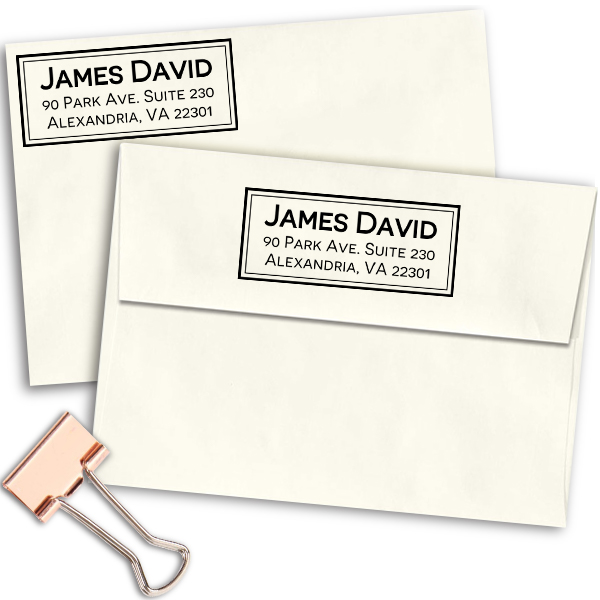 Alexandria Classic Address Stamp Imprint Example