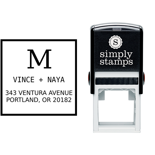 Vince Contrast Address Stamp Body and Design