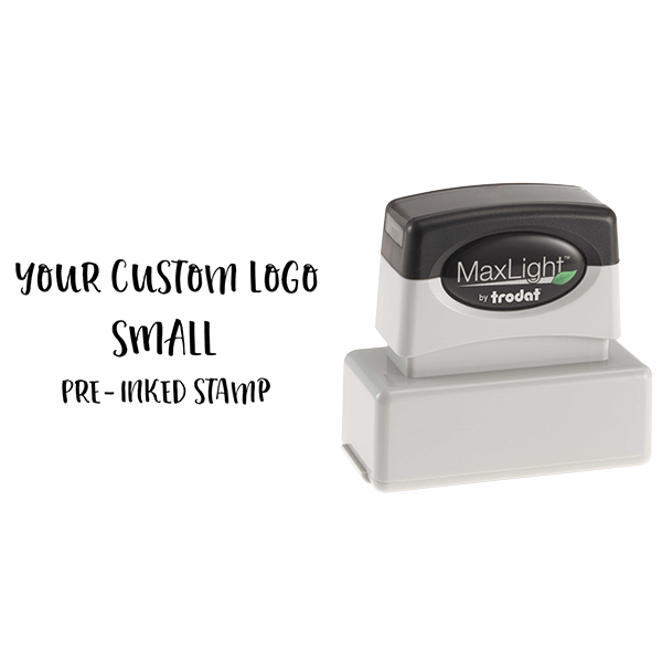 Your Small Logo Custom Pre-inked Stamp Body and Design
