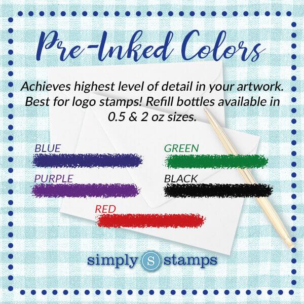 Pre-Inked Ink Colors